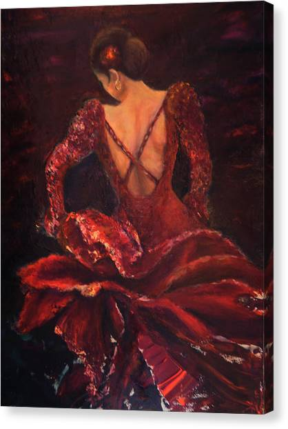 Flamenco Dancer Ma Canvas Print