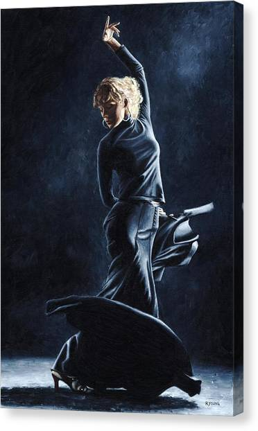 Flamenco Canvas Print - Flamenco Dexterity by Richard Young