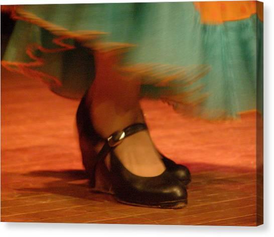 Flamenco Feet Canvas Print