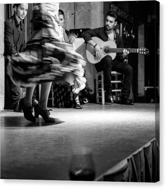 Flamenco Canvas Print - Flamenco. Palau Dalmases. Barcelona by Marcelo Valente