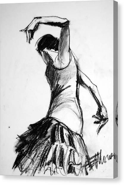 Flamenco Canvas Print - Flamenco Sketch 2 by Mona Edulesco