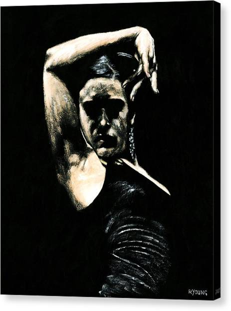 Flamenco Canvas Print - Flamenco Soul by Richard Young