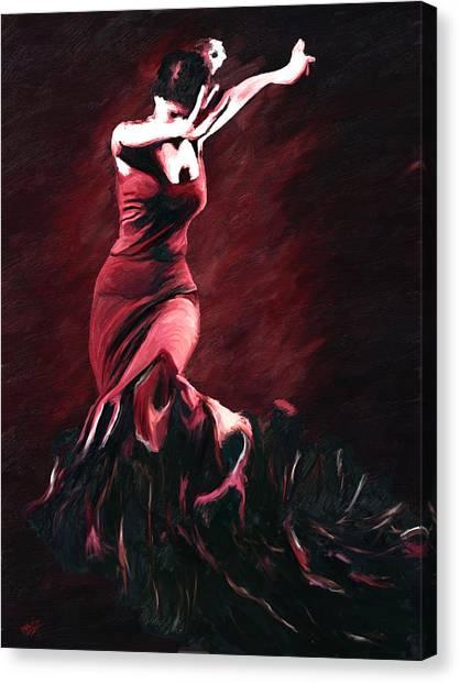 Flamenco Swirl Canvas Print