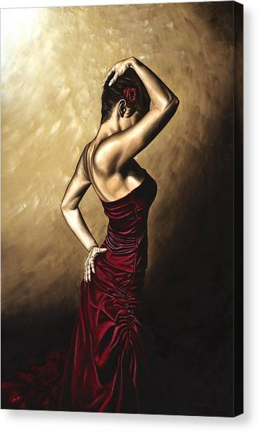 Flamenco Canvas Print - Flamenco Woman by Richard Young