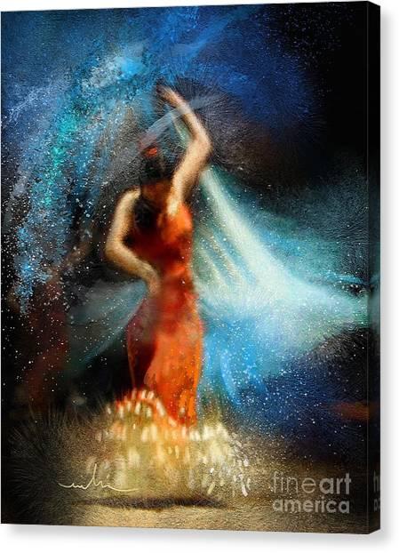 Flamencoscape 05 Canvas Print