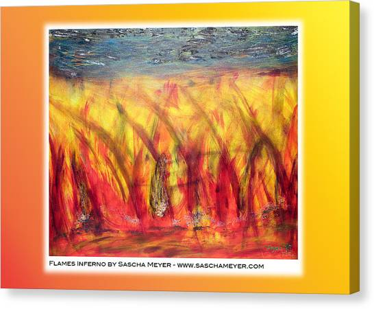 Flames Inferno On A Nice Background - Postcard Canvas Print by Sascha Meyer