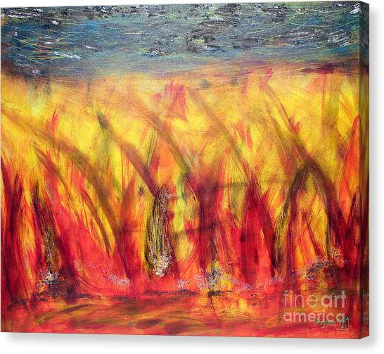 Flames Inferno Canvas Print by Sascha Meyer