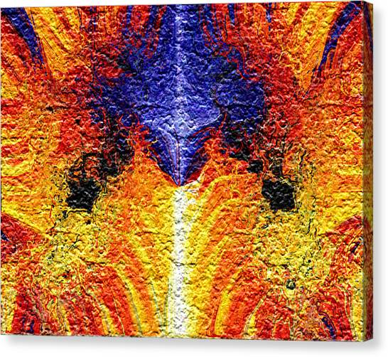 Flames Of Wrath Canvas Print