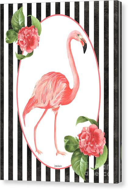 Neck Canvas Print - Flamingo Amore 6 by Debbie DeWitt