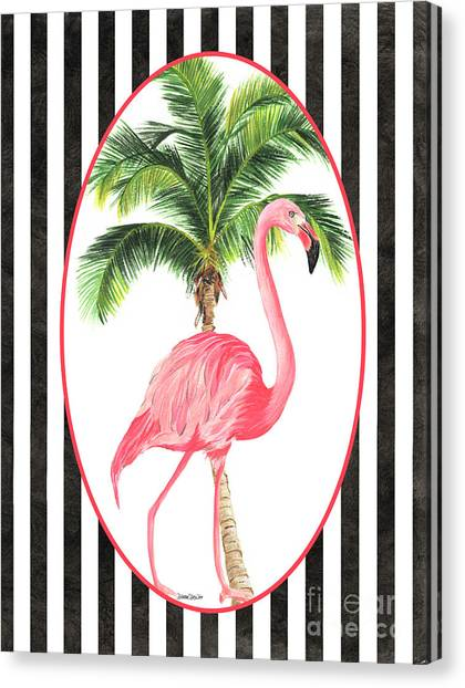 Neck Canvas Print - Flamingo Amore 7 by Debbie DeWitt