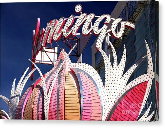 Flamingo Colors Las Vegas Canvas Print by John Rizzuto