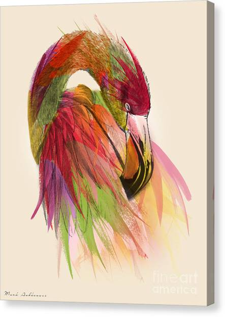 Flamingos Canvas Print - Flamingo  by Mark Ashkenazi