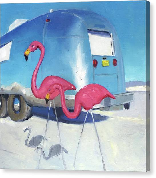 Flamingo Migration Canvas Print