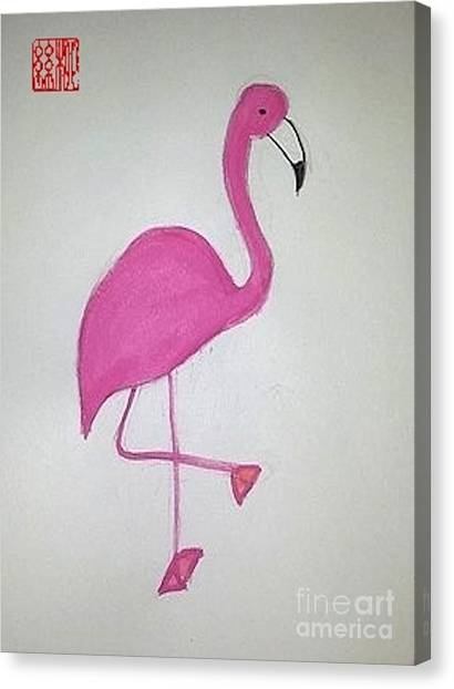 Flamingo Pink Canvas Print