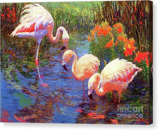 Florida Wildlife Canvas Print - Flamingo Tangerine Dream by Jane Small
