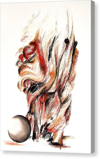 Flamme En Bois Canvas Print by Muriel Dolemieux
