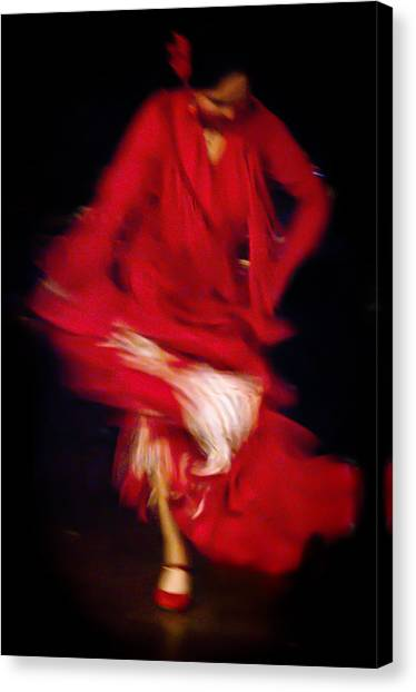 Canvas Print featuring the photograph Flamenco Series 32 by Catherine Sobredo