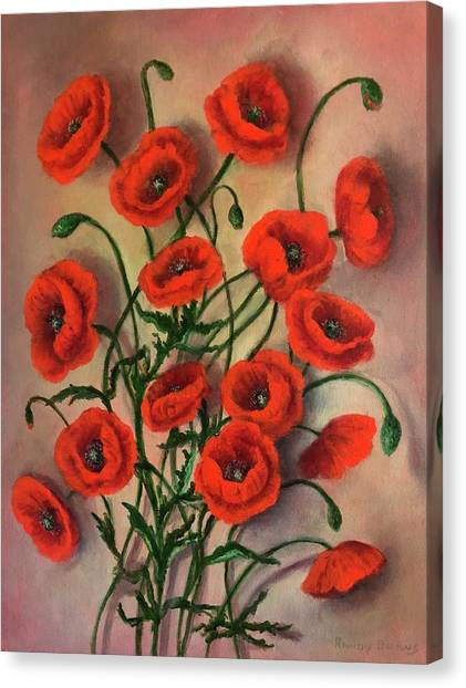 Flander Poppies Canvas Print