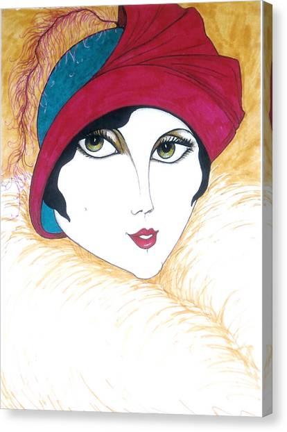 Flapper Girl 1 Canvas Print