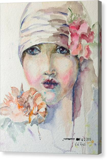 Flapper Canvas Print