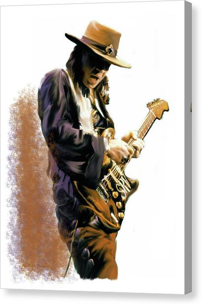 Flash Point Stevie Ray Vaughan Canvas Print