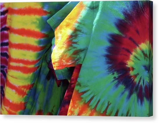 Tie-dye Canvas Print - Flashback by Rebecca Cozart