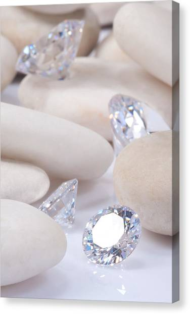 Gemstones Canvas Print - Flashing Diamond by Atiketta Sangasaeng