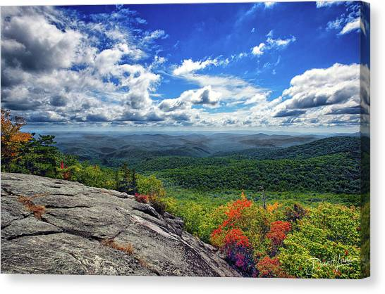 Flat Rock Vista Canvas Print