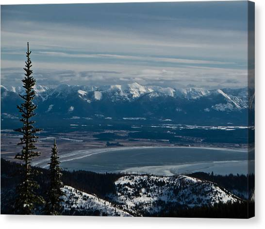 Flathead Valley In The Winter Canvas Print