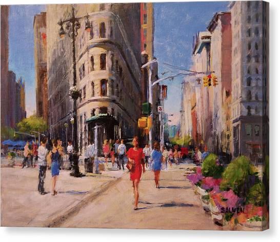 Flatiron Plaza, Summer Morning Canvas Print