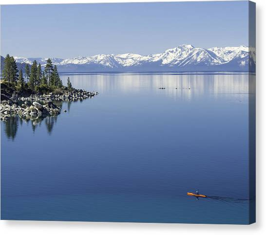 Flatwater Kayak Canvas Print