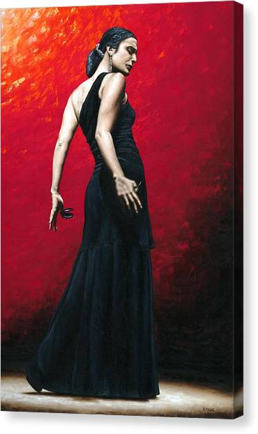 Flamenco Canvas Print - Flemenco Arrogancia by Richard Young