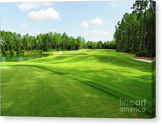 Golf Course Canvas Print - Fleming Island Golf Club by Paul Quinn