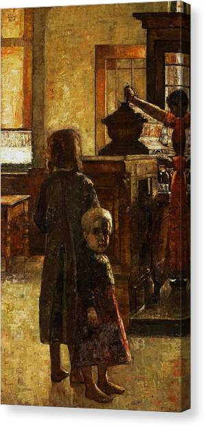 Jewish Painter Canvas Print - Flemish Tavern by Lesser Ury