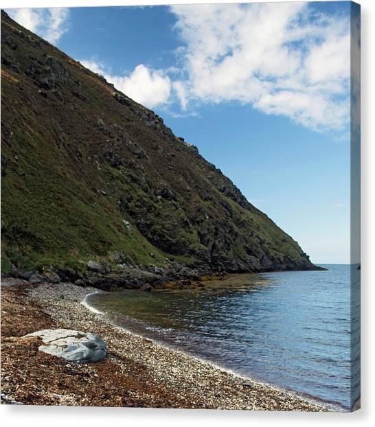 Fleshwick Bay Canvas Print by Steve Watson