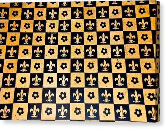 Fleur De Lis Floor Canvas Print