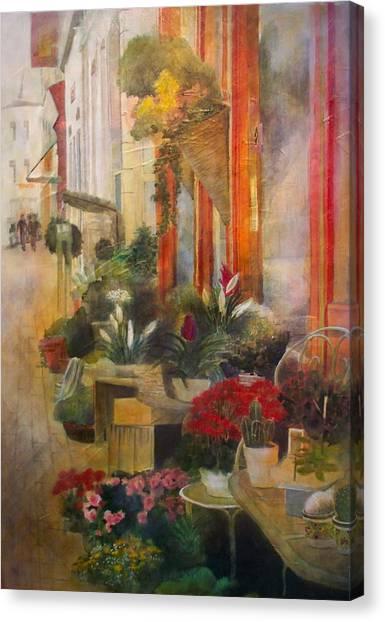Fleuriste Canvas Print by Victoria Heryet