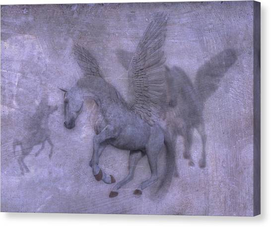 Pegasus Canvas Print - Flight by Betsy Knapp