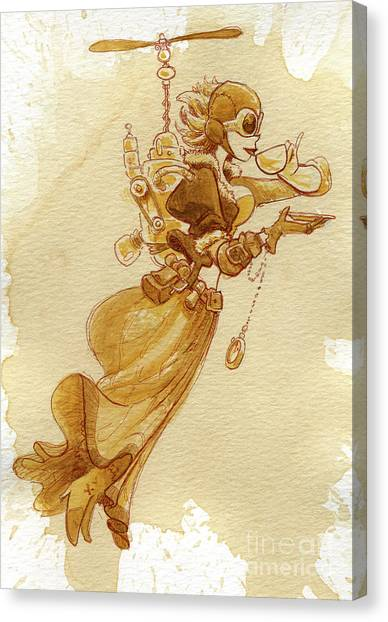 Victorian Canvas Print - Flight by Brian Kesinger