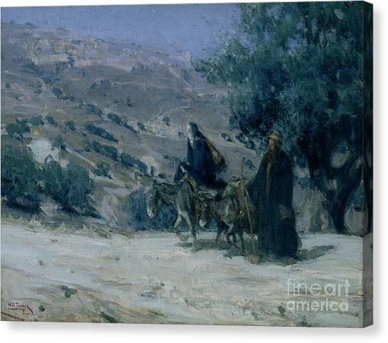 Egyptian Canvas Print - Flight Into Egypt by Henry Ossawa Tanner