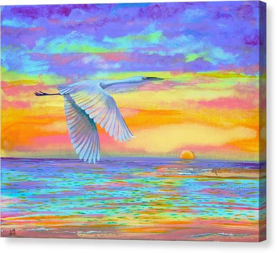 Flight Of Color Canvas Print