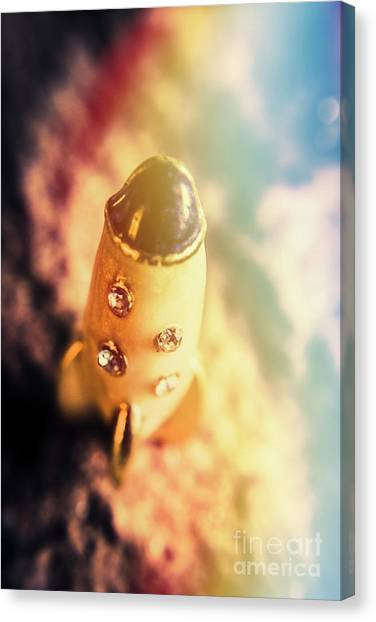 Space Shuttle Canvas Print - Flight Of Space Fiction by Jorgo Photography - Wall Art Gallery