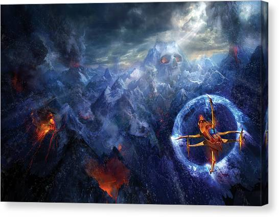 Ashes Canvas Print - Flight Of The Dying Sun by Philip Straub