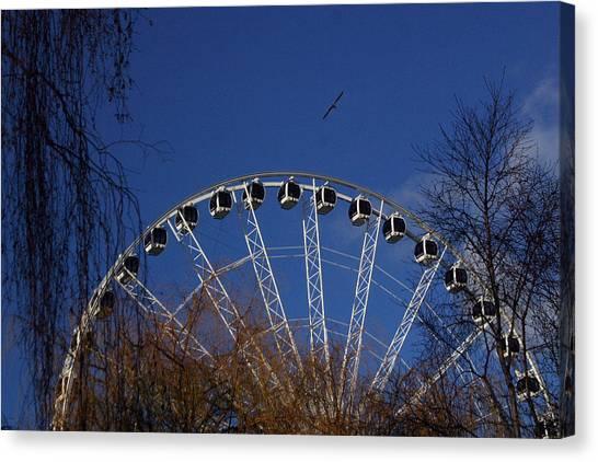 Flight Of The Ferris Canvas Print by Jez C Self
