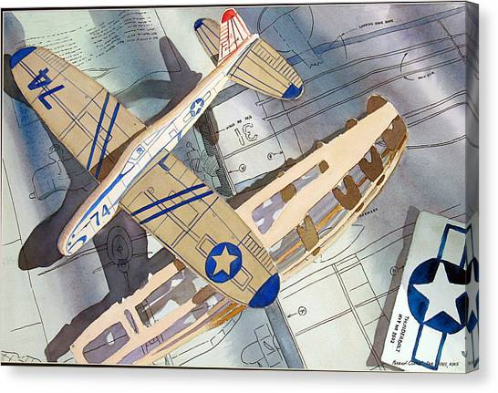 Toy Airplanes Canvas Print - Flight Test by Patrick Clark
