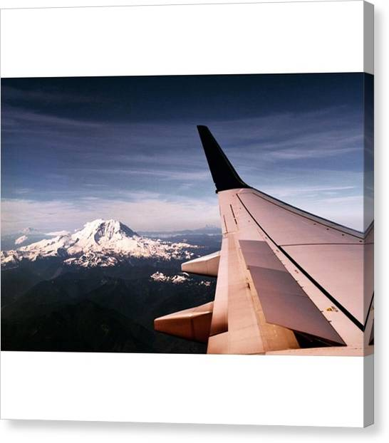 Star Trek Canvas Print - Flight To Canada - Mount Rainier by Scotty Brown