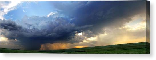 Flint Hills Storm Panorama 2 Canvas Print