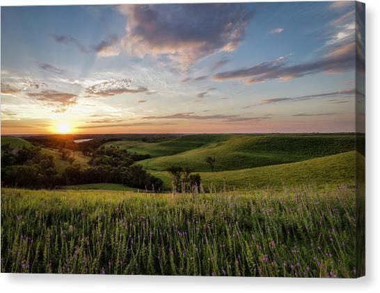Flint Hills Sunset Canvas Print by Scott Bean