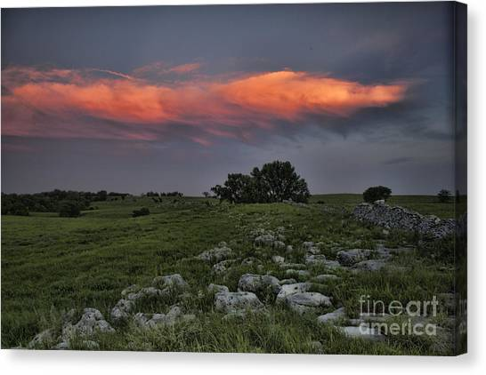 Flinthills Sunset Canvas Print