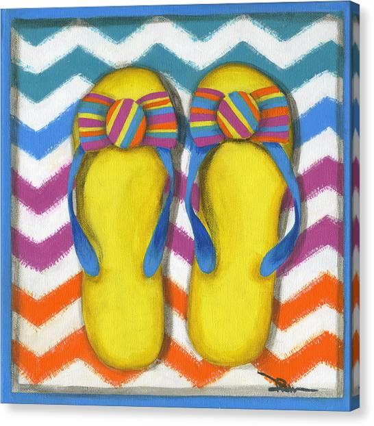 Flip Flops 2 Canvas Print